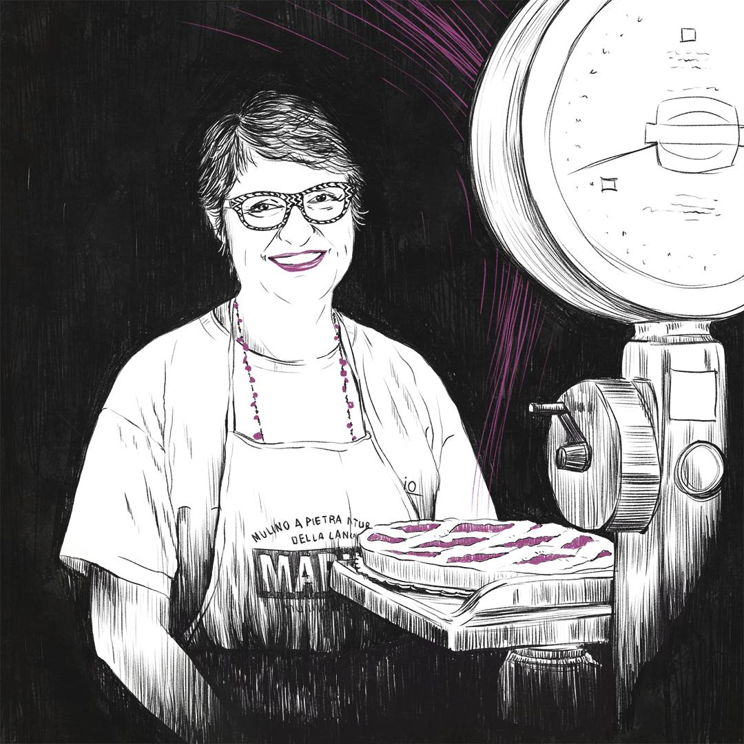 Stefania Innocenti, proprietaria dello storico biscottificio, ritratta da Giulia Gardelli